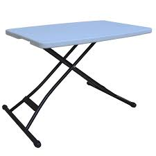 foldable table adjustable height ares height adjustable folding table 26 x 18 youtube