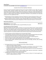 Sample Resume For Construction Manager Project Coordinator Sample Resume Project Coordinator Resume
