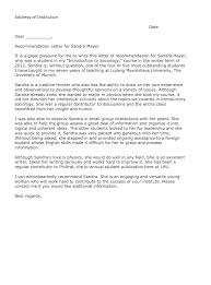 recommendation letter for student resumedoc