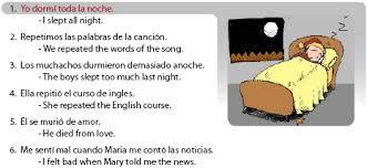 Comfort Spanish Translation Spanish Preterite Irregular Verbs