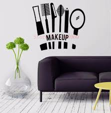 aliexpress com buy e604 cosmetics makeup girl woman decor beauty aliexpress com buy e604 cosmetics makeup girl woman decor beauty spa nail vinyl wall sticker home decor wall decals wall mural wall art from reliable wall