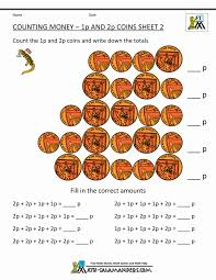 free counting money worksheets uk coins printable math for 1st