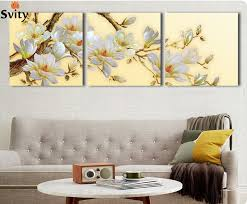 White Orchid Flower Aliexpress Com Buy 3 Panel Modern 3d White Orchid Flower