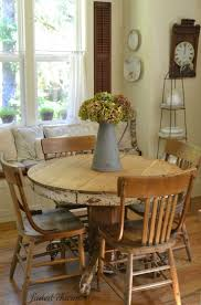 Round Kitchen Table Ideas by Best 25 Rustic Round Dining Table Ideas Only On Pinterest Round