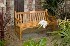 5ft memorial bench fsc solid teak hayes garden world