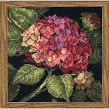 dimensions hydrangea bloom needlepoint