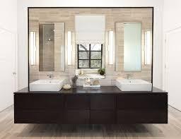 bathrooms modern bathroom with dark modern floating vanity