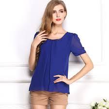 royal blue blouse top royal blue chiffon t shirt summer tops crops