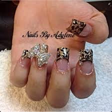 Nail Designs Cheetah Cheetah Nail W 3d Bow Nails By Adylene Cheetah Best