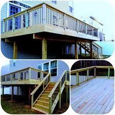 massey deck pressure treated wood deck vinyl rails charles md