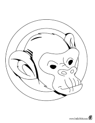 monkey u0027s head coloring sheet more jungle animals coloring pages