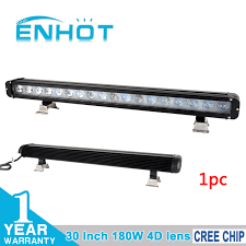 30 led light bar combo enhot 4d lens 30 180w cree led chip light bar spot flood combo
