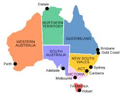 major cities of australia map map of major cities in australia major tourist