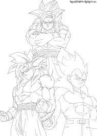 super saiyan 4 fusion lineart by jamalc157 on deviantart
