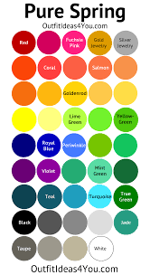 spring color pure spring color palette clear spring spring color palette