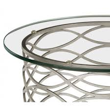 silver side table uk contemporary glass side table silver swanky interiors