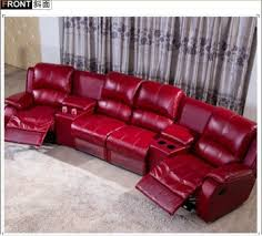 Genuine Leather Reclining Sofa Genuine Leather Recliner Sofa With Coffee Table Reclining Corner