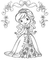 strawberry shortcake beautiful princess strawberryland coloring