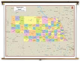 Nebraska Map Nebraska State Political Classroom Map From Academia Maps