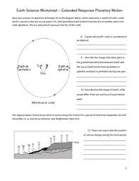 high earth science worksheet rotation and revolution tpt