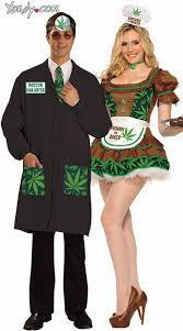 Halloween Costume Doctor Leaf Couples Costume Dr Ken Abyss Costume Weed Leaf Doctor