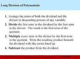 Dividing Polynomials Worksheet Chapter 1 Polynomial And Rational Functions 3 3 Dividing