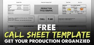 free download call sheet template the only one you u0027ll ever need