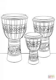djembe drums coloring page free printable coloring pages