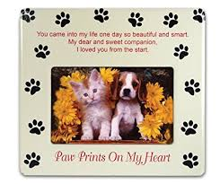 pet bereavement pet memorial picture frame paw prints on my heart
