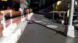 sidewalks and curbs