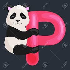 imagenes en ingles con la letra p panda animal y la letra p para la educación en los niños abc