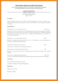 Journeyman Electrician Resume Sample by 100 Electrician Resume Template Mbbs Resume Format Corpedo