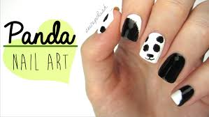 these super cute fuzzy panda nails are easy and fun to design