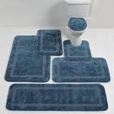 Blue Bathroom Rugs Rugs Soft And Smooth Fieldcrest Bath Rugs For Modern Bathroom