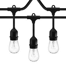 l post light socket amazon com slz sunthin 48ft string lights with 24 x e26 dropped