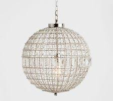Crystal Sphere Chandelier Pottery Barn Crystal Chandeliers Ebay