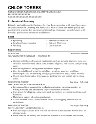 exle of a customer service resume best warehouse packer resumes resumehelp