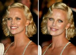 fashioned hair charlize theron sporting an old fashioned hairstyle with waves
