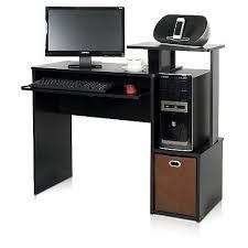 Staples Computer Desks For Home Furinno Econ Standard Home Office Computer Desk Black 12095bk Br