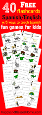40 free spanish english flashcards of jungle animals and 5 fun