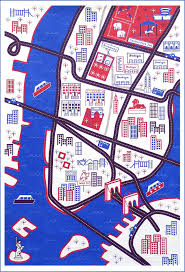 Nyc City Map Wanderlust City Map Playmats Ella Lou
