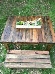 diy pallet picnic table with bench pallet furniture plans
