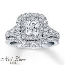 neil bridal set jared neil bridal set 2 1 4 ct tw diamonds 14k white gold