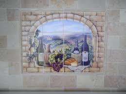 mural tiles for kitchen backsplash kitchen backsplash tile ideas wine tile mural tile backsplash