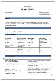 resume format free sample resume templates free download in