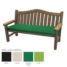 5ft Garden Bench Cushion In Green 5ft 3 Seater Bench Thicker Style Sale