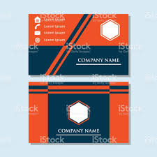 simple business card template for your business identity and icon