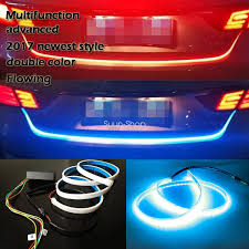 Automotive Led Light Strips Dual Color Flowing Led Light Strip Trunk Tailgate Light Turn