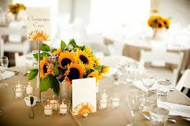 sunflower centerpieces sunflower wedding flower ideas in season now brides