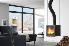 interiors hanging wooden fireplace called bora flex also floor to